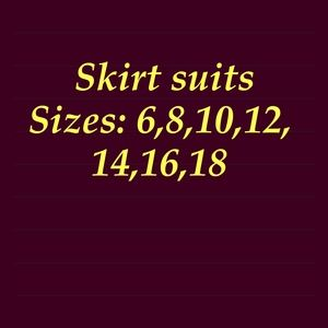 Jackets & Blazers - LADIES SKIRT SUITS